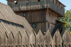 Viele Burgen des niederen Adels waren aus Holz gebaut