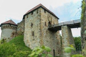 Der Zugang zur Burg war stets gut gesichert