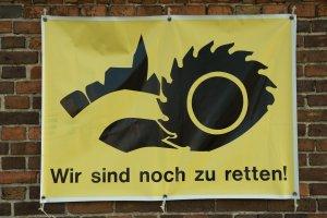 Protest gegen Braunkohletagebau in der Lausitz, Atterwasch