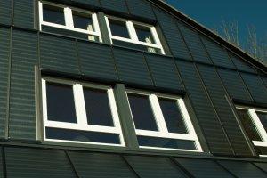 Fassade mit Solarthermie