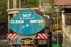 Tankwagen für sauberes Wasser
