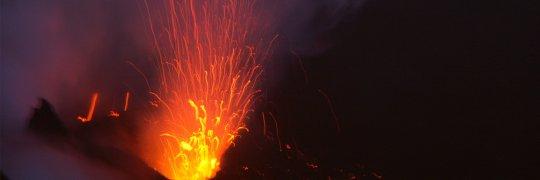 Eruption eines Vulkans