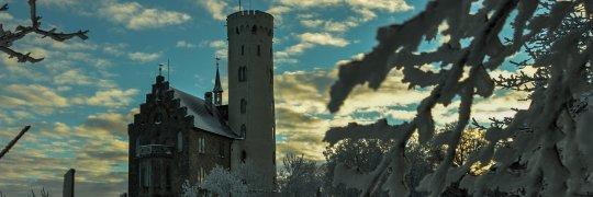Schloss Lichtenstein im Winter